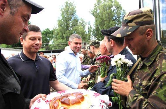 Бойцы Национальной гвардии Украины вернулись домой, в Кременчуг (ФОТО), фото-6