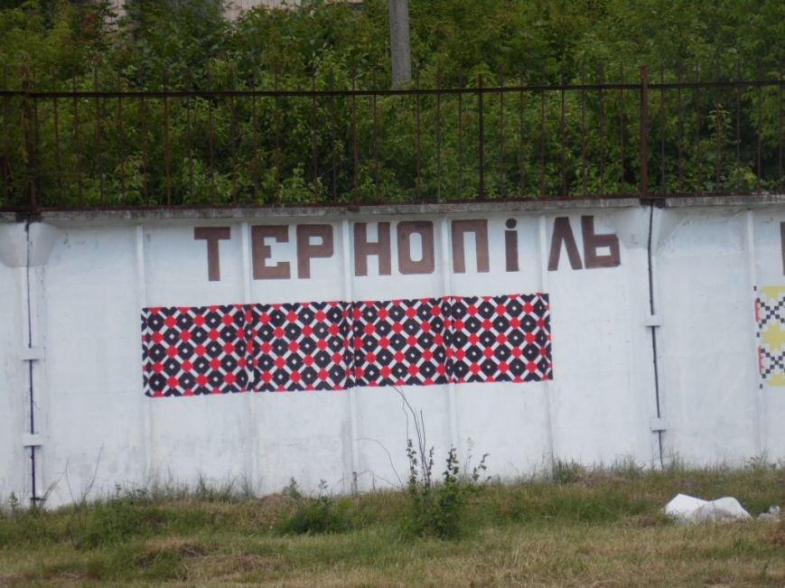 У Тернополі в рамках «Дворової cпартакіади» представили унікальну стіну єдності України (фото), фото-2
