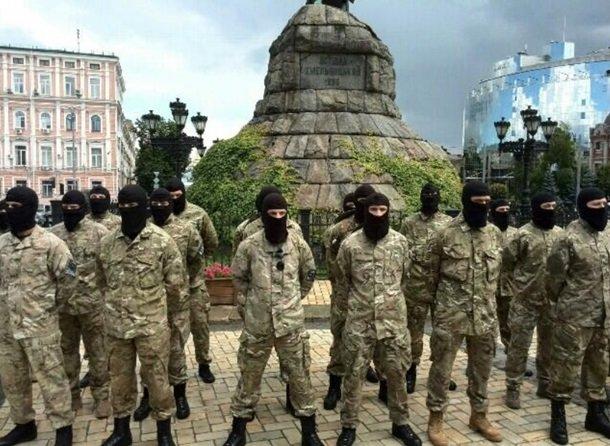 Батальон «Азов» проводили на войну из Киева, фото-2