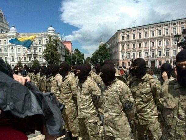Батальон «Азов» проводили на войну из Киева, фото-1