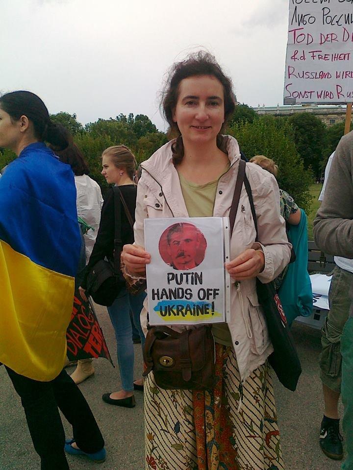 Луганчанин показал, как протестуют против приезда Путина в Вене (ФОТО), фото-9