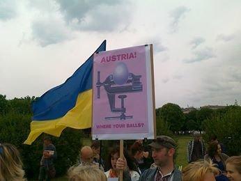 Луганчанин показал, как протестуют против приезда Путина в Вене (ФОТО), фото-8