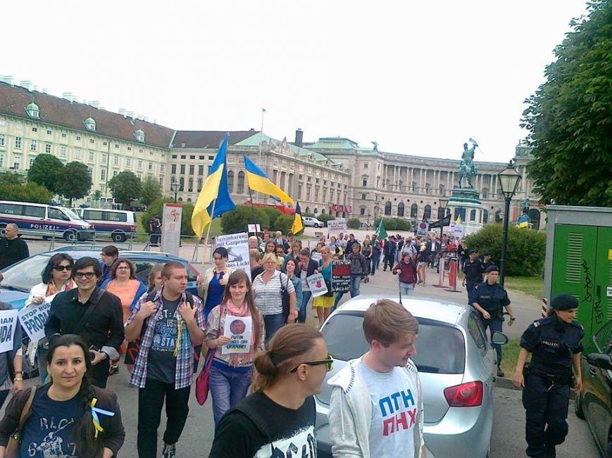 Луганчанин показал, как протестуют против приезда Путина в Вене (ФОТО), фото-13