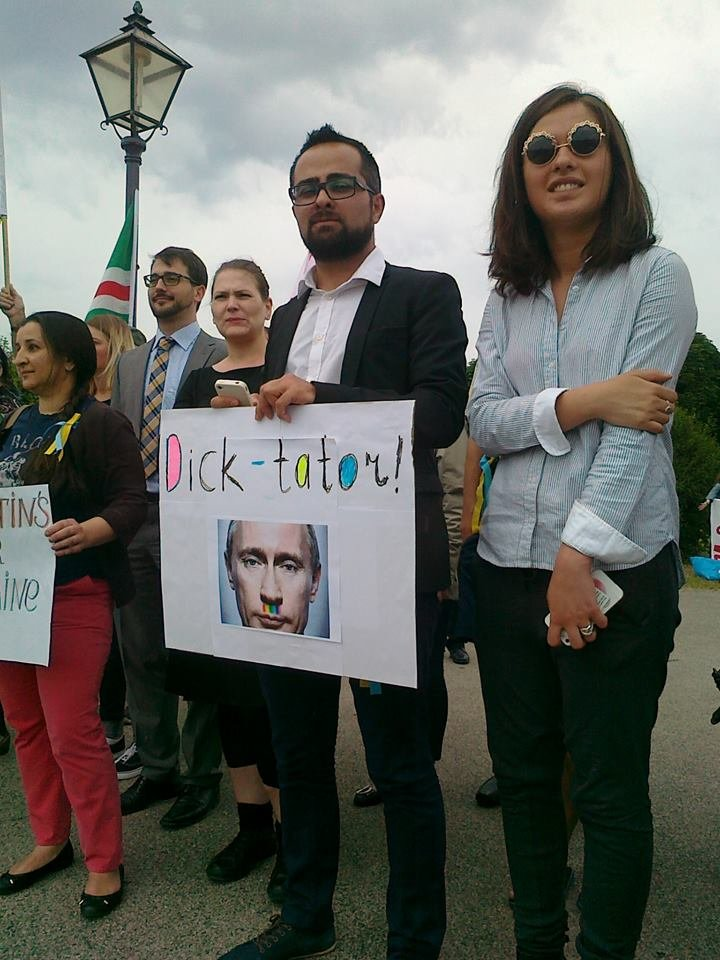 Луганчанин показал, как протестуют против приезда Путина в Вене (ФОТО), фото-12