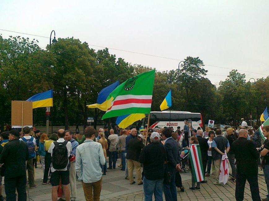 Луганчанин показал, как протестуют против приезда Путина в Вене (ФОТО), фото-7