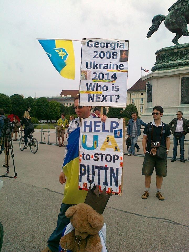 Луганчанин показал, как протестуют против приезда Путина в Вене (ФОТО), фото-11