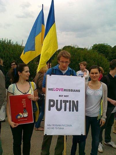 Луганчанин показал, как протестуют против приезда Путина в Вене (ФОТО), фото-1