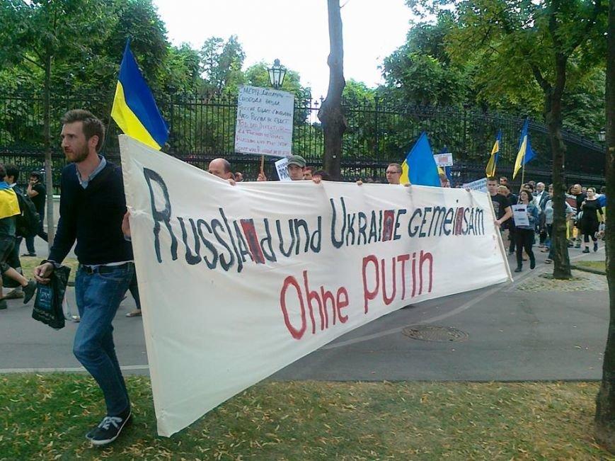 Луганчанин показал, как протестуют против приезда Путина в Вене (ФОТО), фото-14