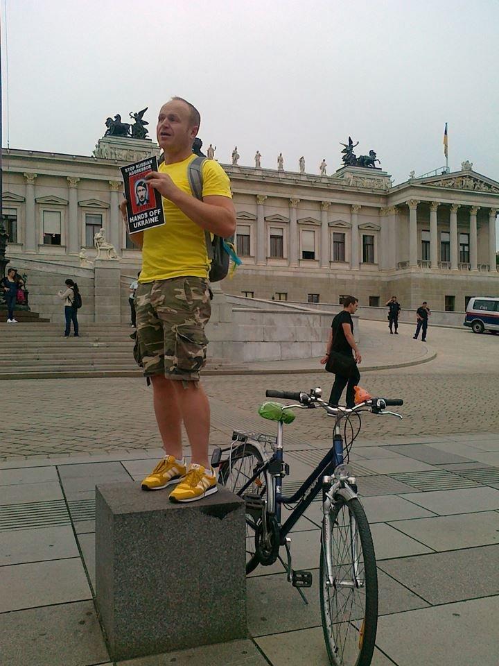 Луганчанин показал, как протестуют против приезда Путина в Вене (ФОТО), фото-5
