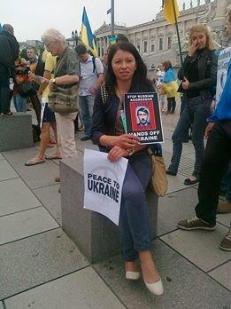Луганчанин показал, как протестуют против приезда Путина в Вене (ФОТО), фото-4