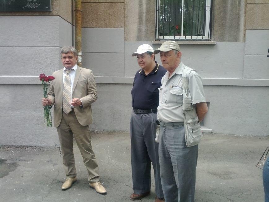 25 06 Открытие доски Горелику И Глазков (слева), Б.Ьерлин Е.Трахтенберг40