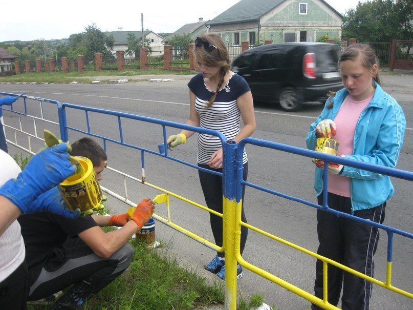 Біля Львова активісти розмалювали паркан у патріотичні барви (ФОТО), фото-4