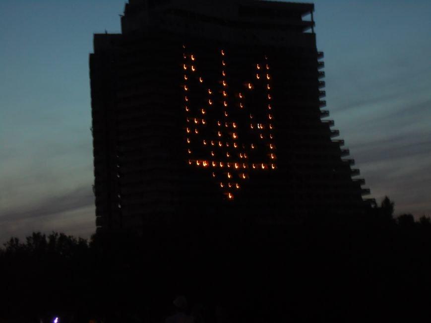 Как в Днепропетровске герб Украины на «Парусе» светился (ВИДЕО, ФОТО), фото-15