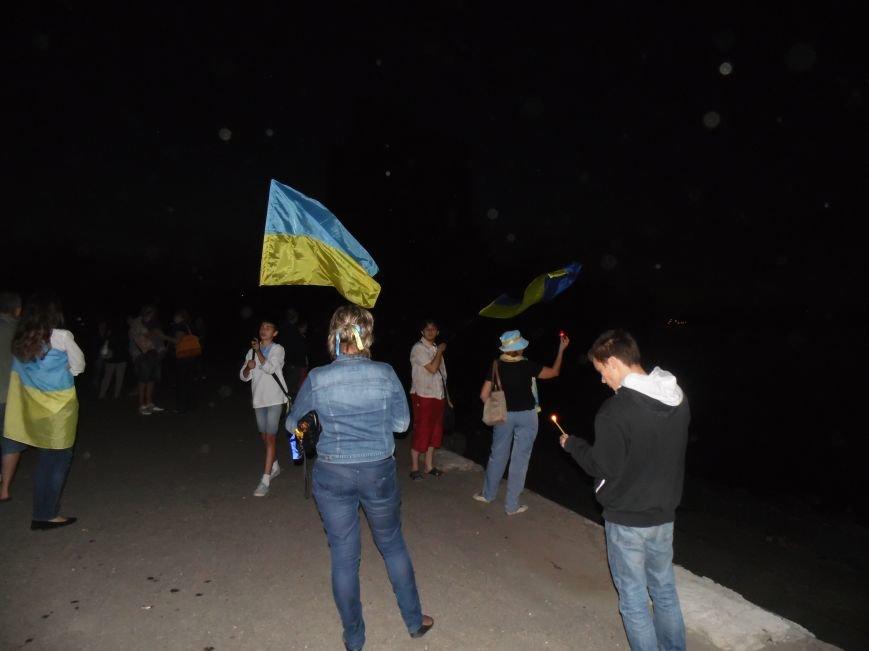 Как в Днепропетровске герб Украины на «Парусе» светился (ВИДЕО, ФОТО), фото-23