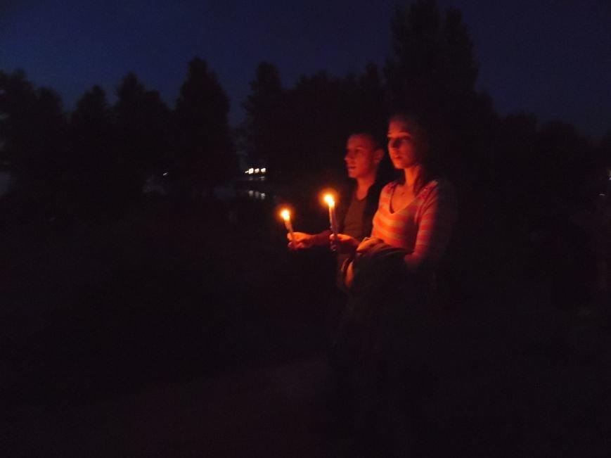 Как в Днепропетровске герб Украины на «Парусе» светился (ВИДЕО, ФОТО), фото-4