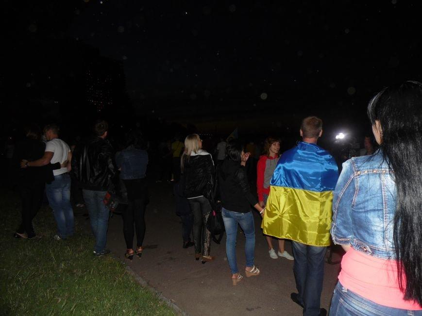 Как в Днепропетровске герб Украины на «Парусе» светился (ВИДЕО, ФОТО), фото-3