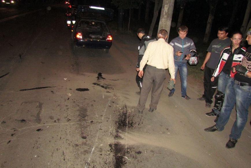 В Мариуполе  на проспекте Строителей перевернулся  байкер (ФОТО), фото-3