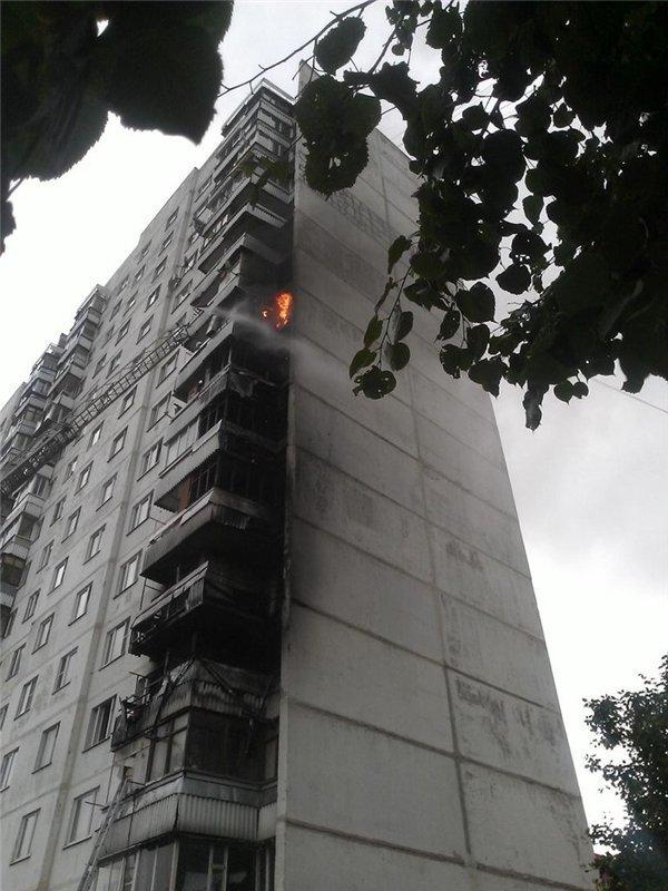 В микрорайоне Авиационный Домодедово ликвидирован пожар в многоквартирном доме, фото-1