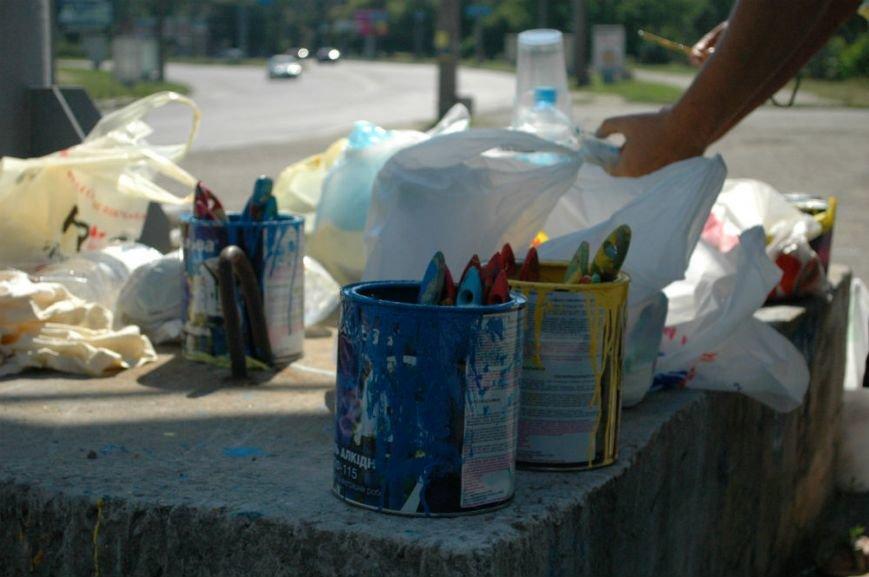ФОТОРЕПОРТАЖ: Запорожцы проводят выходной, раскрашивая ДнепроГЭС, фото-6