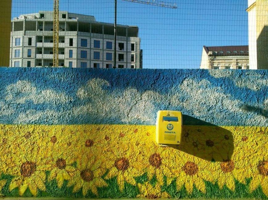 Патриотичный стрит-арт: Киев расписали золотыми подсолнухами (ФОТО), фото-2