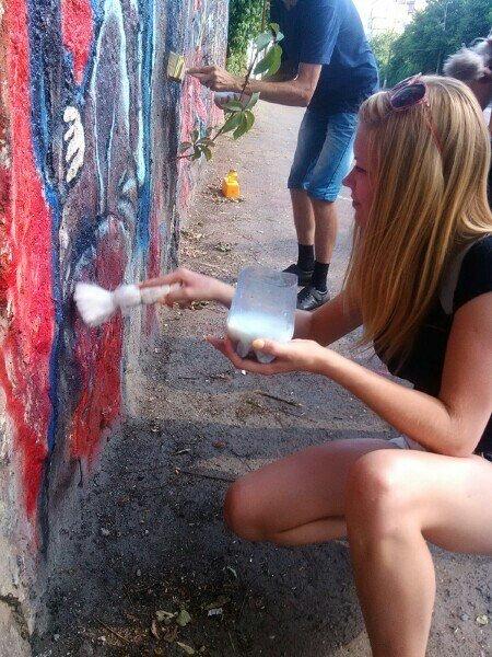 Криворожане защитили граффити памяти «Небесной сотни», фото-3