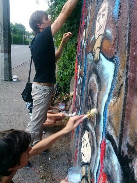 Криворожане защитили граффити памяти «Небесной сотни», фото-2