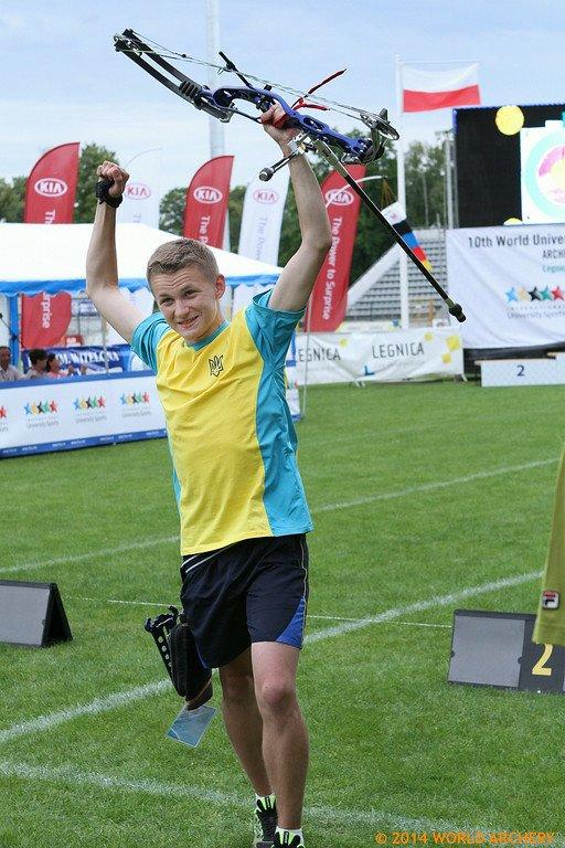 Владислав Большаков у перші секунди після отримання права на звання - ЧЕМПІОН СВІТУ серед студентів 2014 року