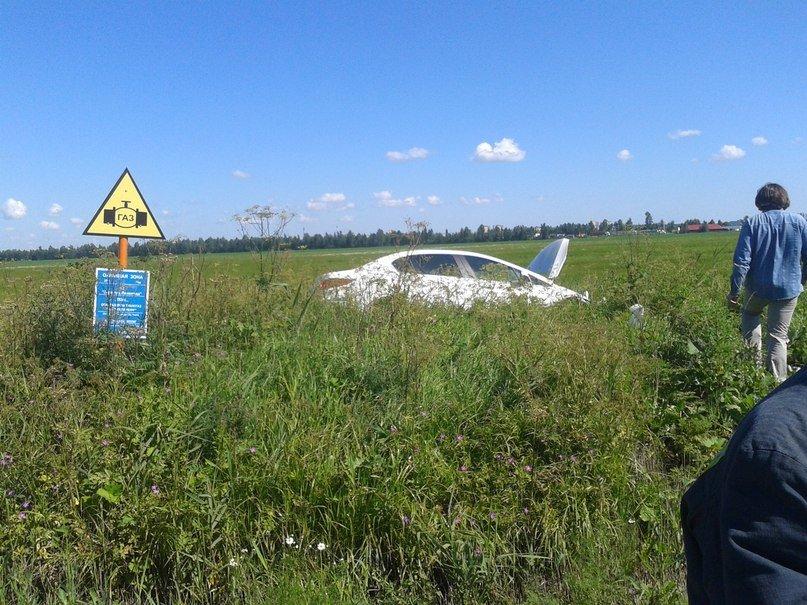 ДТП, авария, 7 июня, Московское шоссе, авто вылетел в поле