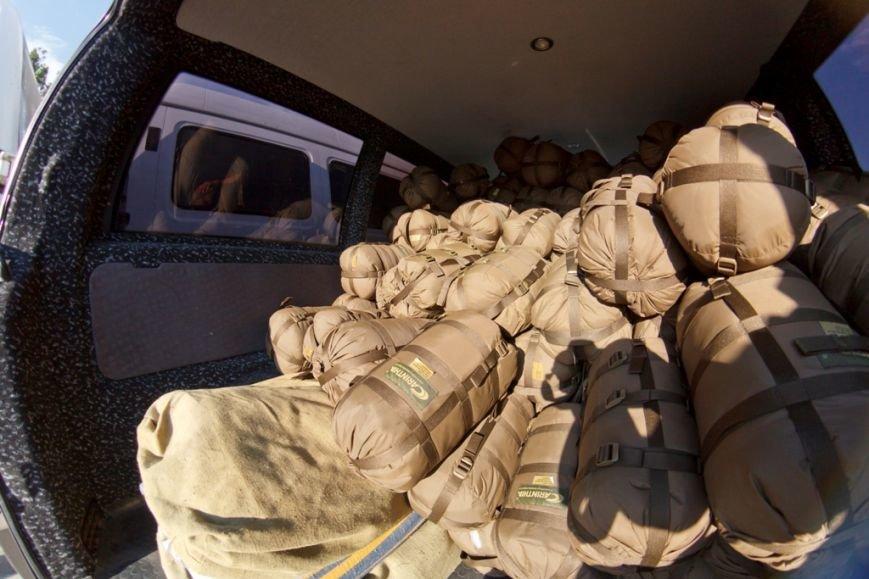 Солдаты отдельного батальона территориальной обороны «Сумы» получили амуницию от Киевской региональной организации миротворцев, фото-4