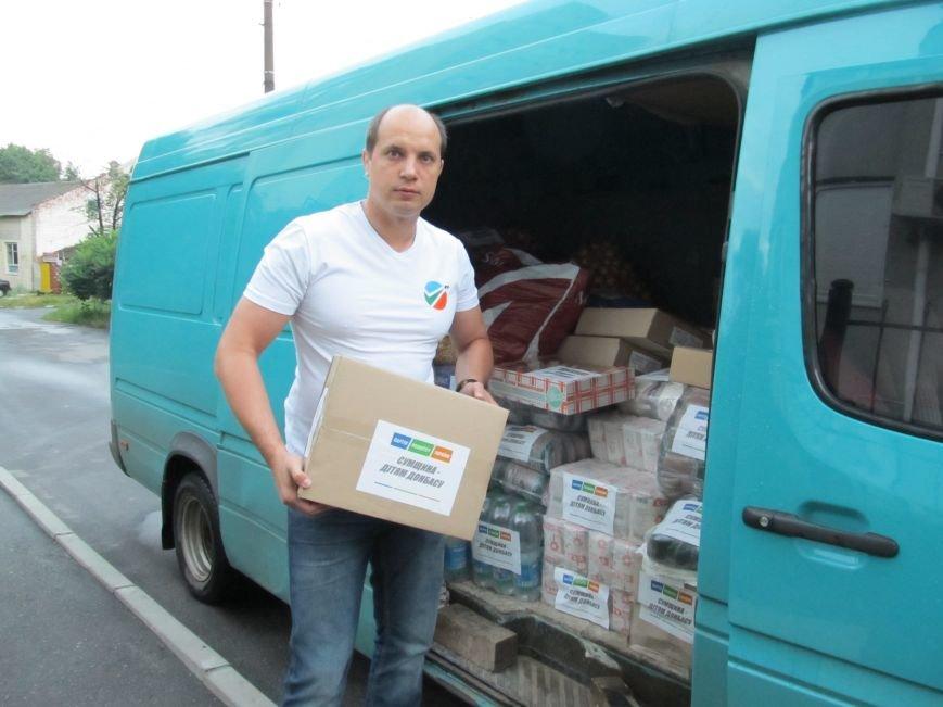 Сумы-Славянск. В освобожденный от боевиков город прибыла гуманитарная помощь для «детей необъявленной войны» (ФОТО), фото-2