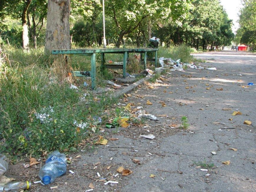 Парк трудовой славы: многолюдно и грязно (фото) - фото 4
