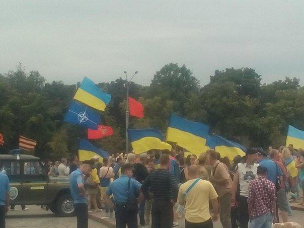 «Антимайдоновцы» и «Евромайдан» одновременно вышли на площадь Свободы на митинги, фото-4