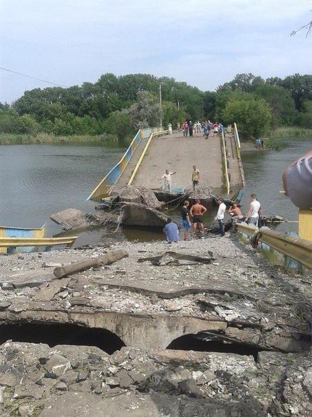 В Донецкой области боевики подорвали еще один мост (ФОТО), фото-1