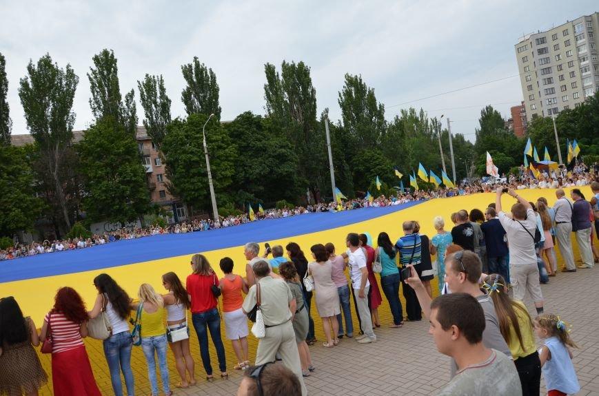 В Мариуполе растянули самый большой флаг Украины (ФОТОРЕПОРТАЖ), фото-10