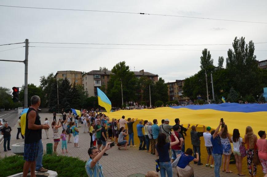 В Мариуполе растянули самый большой флаг Украины (ФОТОРЕПОРТАЖ), фото-13