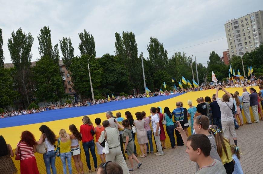 В Мариуполе растянули самый большой флаг Украины (ФОТОРЕПОРТАЖ), фото-11