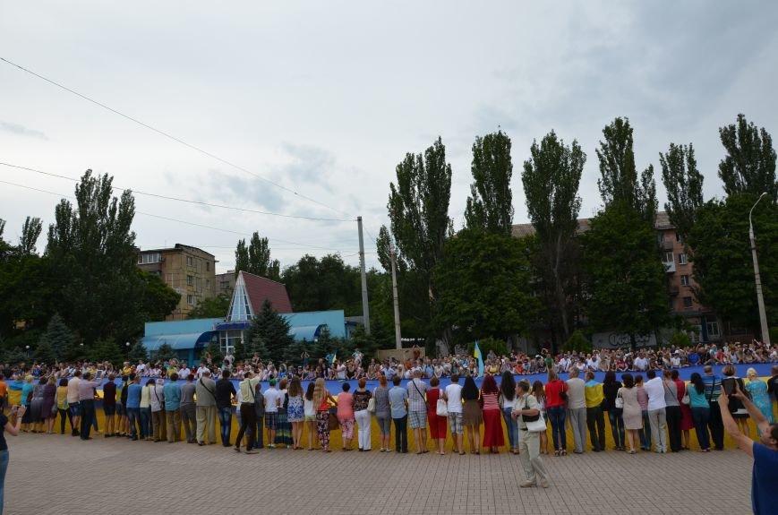 В Мариуполе растянули самый большой флаг Украины (ФОТОРЕПОРТАЖ), фото-7