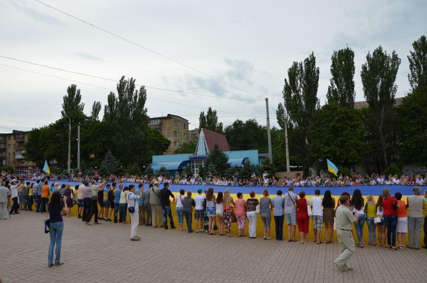 В Мариуполе растянули самый большой флаг Украины (ФОТОРЕПОРТАЖ), фото-8