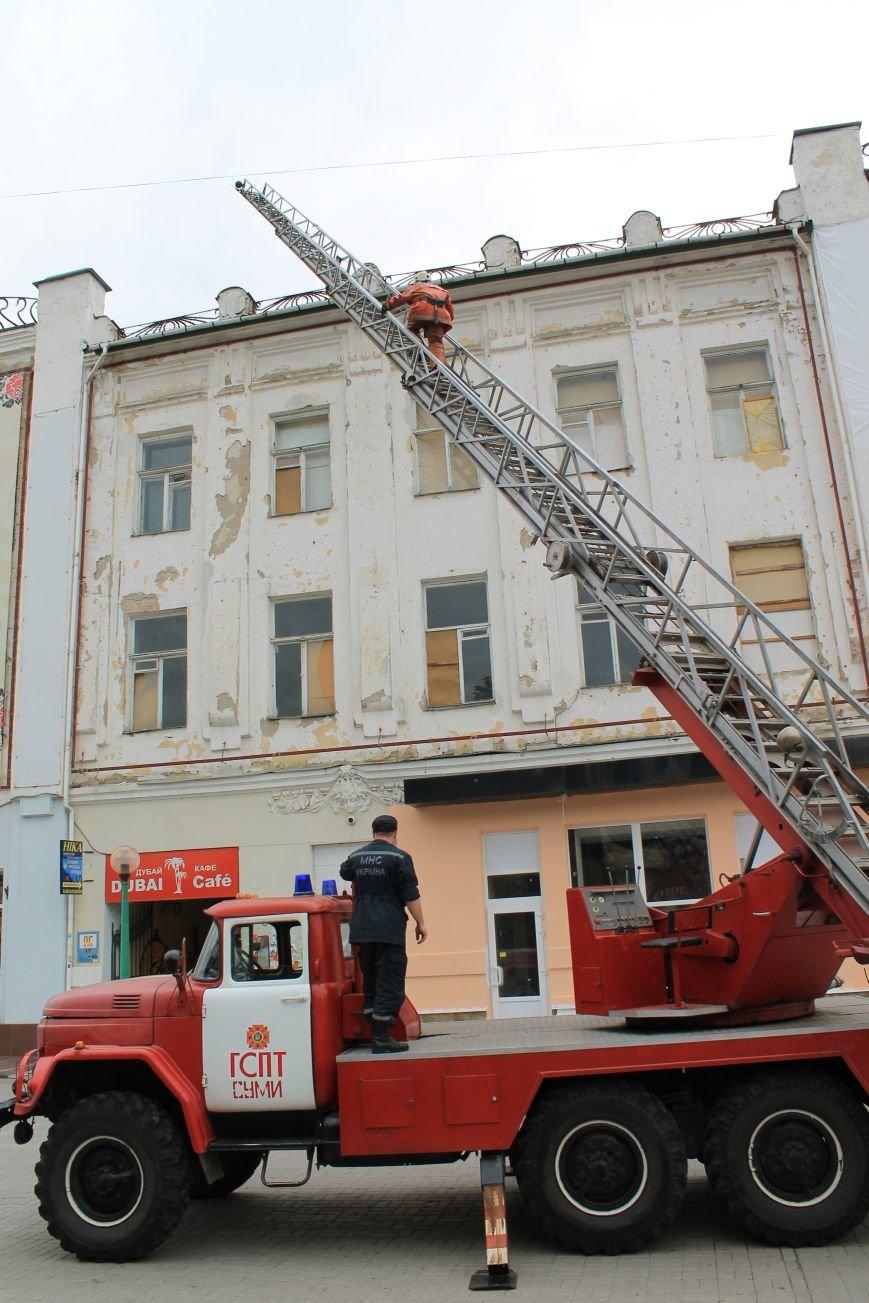 В центре Сум душевнобольной угрожал взорвать дом (ФОТО), фото-10