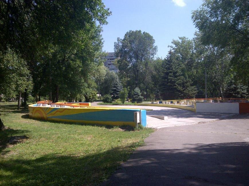 ФОТОФАКТ: Запорожская «Дубовка» преобразилась - отремонтированные скамейки и рисунки в патриотических тонах, фото-1