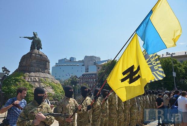 В Киеве в зону АТО провожали новобранцев батальона «Азов» (ФОТО), фото-5