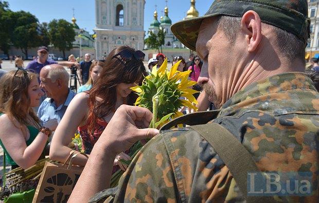 В Киеве в зону АТО провожали новобранцев батальона «Азов» (ФОТО), фото-10