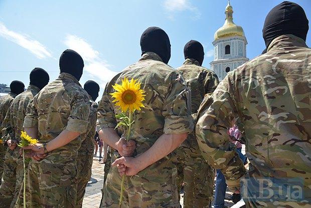 В Киеве в зону АТО провожали новобранцев батальона «Азов» (ФОТО), фото-12