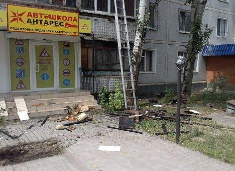 В Запорожья жильцы могоэтажки нечаянно подожгли соседский балкон, фото-1