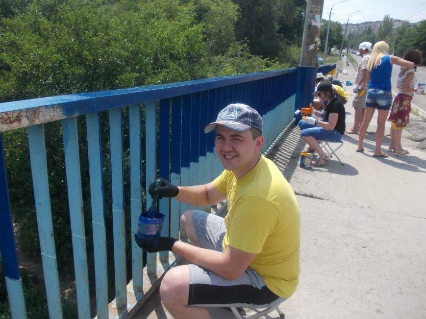 В Кривом Роге одним «сине-желтым» мостом стало больше (ФОТО), фото-3