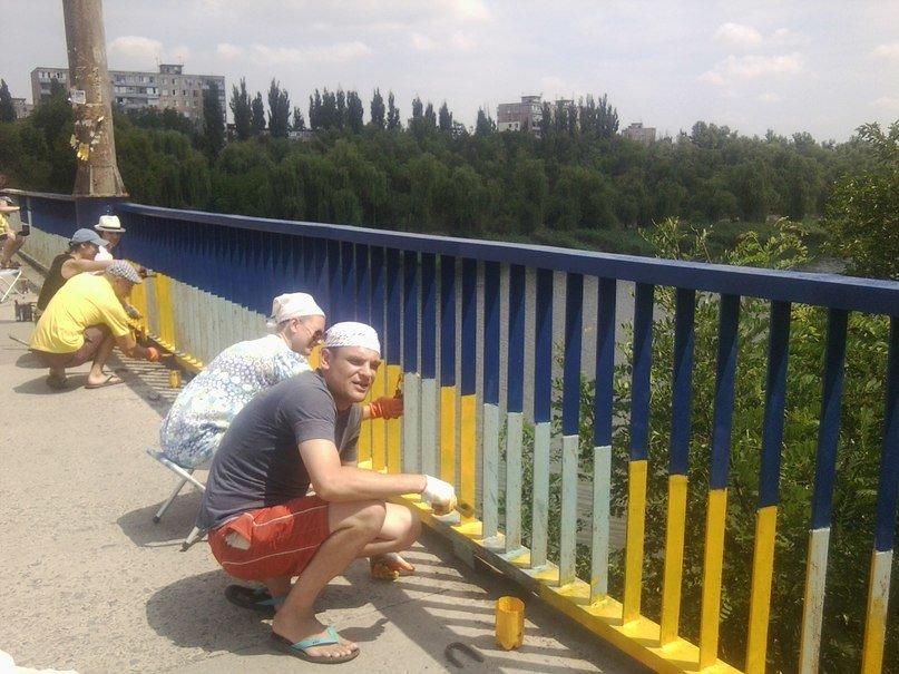 В Кривом Роге одним «сине-желтым» мостом стало больше (ФОТО), фото-5