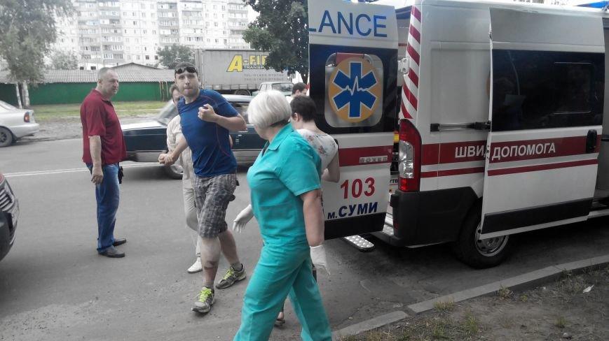 В Сумах на ул. Д. Коротченко пьяный водитель сбил велосипедиста и пешехода (ФОТО), фото-8