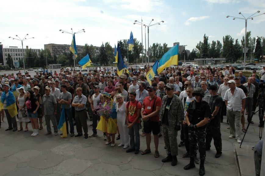 В Запорожье прошел митинг против агрессии России (ФОТО), фото-5
