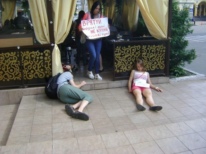 Киевляне бойкотировали кафе владельцев-россиян (ФОТО), фото-5