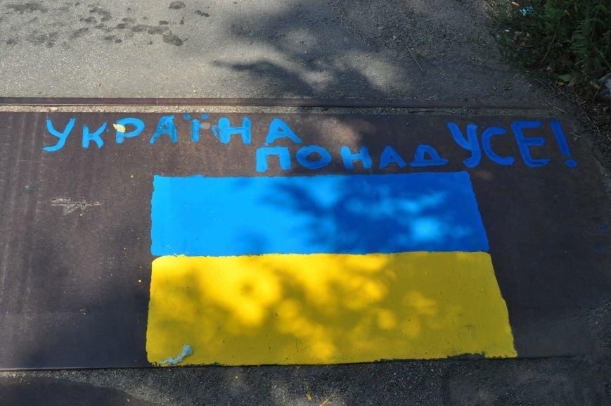 В Запорожье школьники приступили к раскрашиванию арочного моста, фото-4